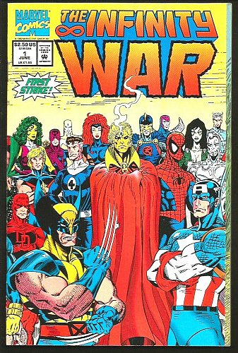 INFINITY WAR #1 STARLIN Lim Milgrom Fold Out Cover GUARDIANS OF THE GALAXY 1992