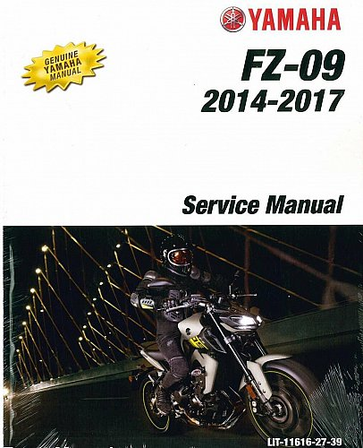 2014-2015-2016-2017 Yamaha FZ-09 ( FZ09 ) Service, Parts & Owner Manual on a CD