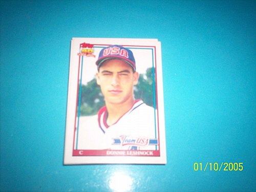 1991 Topps Traded rookie card team usa donnie leshnock #72T mint free ship