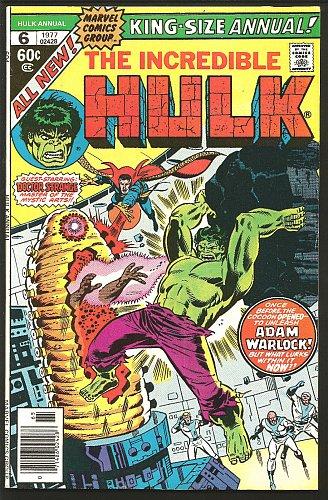 The Incredible HULK #6 Adam Warlock GUARDIANS of the GALAXY 1977 Marvel Comics