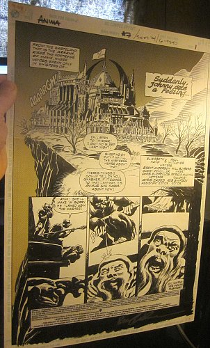 Original Comic Art ANIMA #7 SplashPage SIGNED 1994 Page1 Bruce Anderson DCcomics