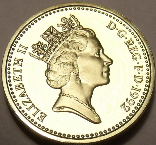 Cameo Proof Great Britain 1992 Pound~An Ornament And a Safeguard~Free Shipping