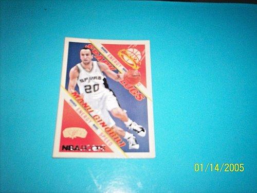 2013-14 NBA Hoops Spark Plugs #15 manu ginobili spurs Basketball Card