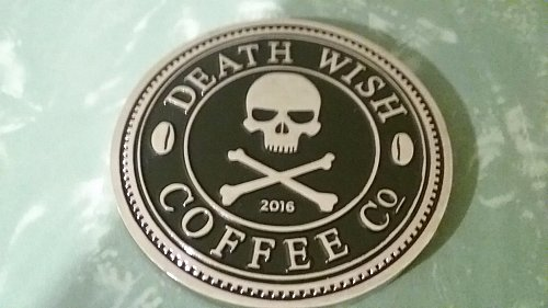 used - rare - Death Wish Coffee Company 2016 Societal Member Coin Society