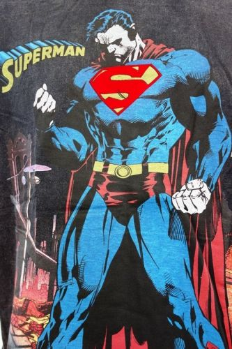 Superman blue and black body Cotton T-Shirt Super Hero Dc comics,Warner Bros.
