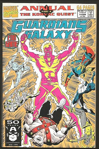 GUARDIANS OF THE GALAXY ANNUAL #1 NM Marvel Comics Jim Valentino + 1991