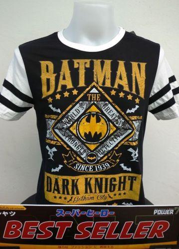 Batman Black Cotton T-Shirt Super Hero Dccomics,Warner Bros Free Shipping