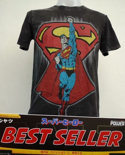 Superman Black and red Cotton T-Shirt Super Hero Dccomics,Warner Bros