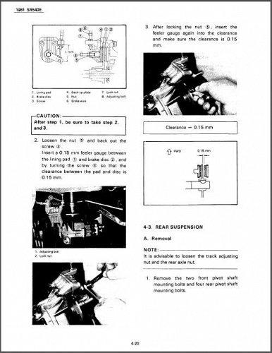 1981-1991 Yamaha SRV 540 Snowmobile Service Repair Manual CD --- SR540 SRV540 SR