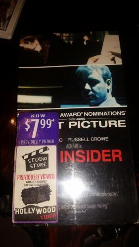 The Insider VHS 1992 Al Pacino Russell Crowe Hollywood video sealed!