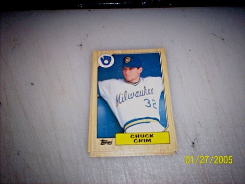 1987 Topps Traded Baseball ROOKIE CHUCK CRIM BREWERS #T25 FREE SHIPPING