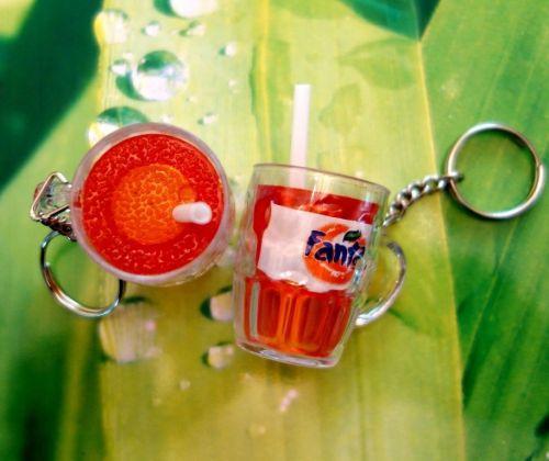ORANGE FANTA 1 Cute MINI CUP PLASTIC KEYCHAINS GIFT CUTE BUY 1 GET 1 FREE