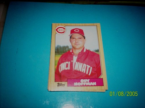 1987 Topps Traded Baseball CARD OF GUY HOFFMAN REDS #T48 MINT
