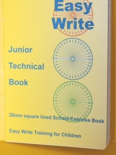 """A5 EASYWRITE """"JUNIOR TECHNICAL 20mm graph"""" School Exercise Book """"TOP QUALITY"""""""