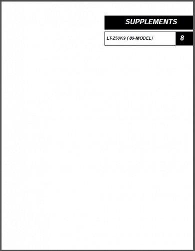 2006-2007-2008-2009 Suzuki LT-Z50 QuadSport 50 ATV Service Manual on a CD