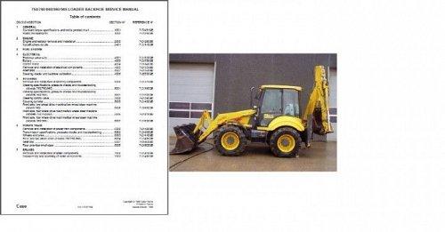 Case 750 / 760 /860 / 960 / 965 BACKHOE LOADER Tractor Service Manual on a CD