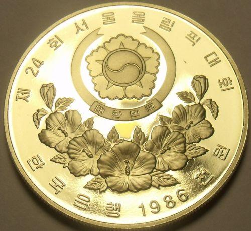 South Korea 1986 1,000 Won Proof~Womens Olympic Basketball