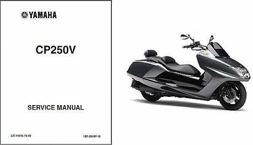 Yamaha CP250 Morphous - Maxam 250 Scooter Service Manual on a CD
