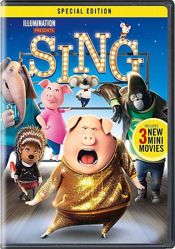 SING DVD Buster MOON,Matthew MCCONAUGHEY,Reese WITHERSPOON Scarlett JOHANSSON