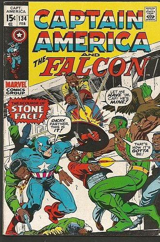 CAPTAIN AMERICA #134 & Falcon Marvel Comics 1st Print Fine/VF