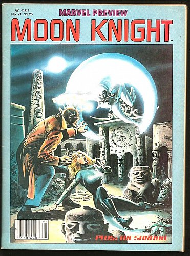 Marvel Preview Magazine #21 MOONKNIGHT 1980 1st print + STEVE DITKO's SHROUD