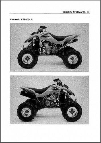 03-04 Kawasaki KFX400 ATV Service Repair Manual CD --- KFX 400