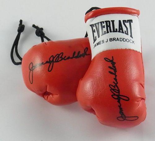 Autographed Mini Boxing Gloves James Braddock