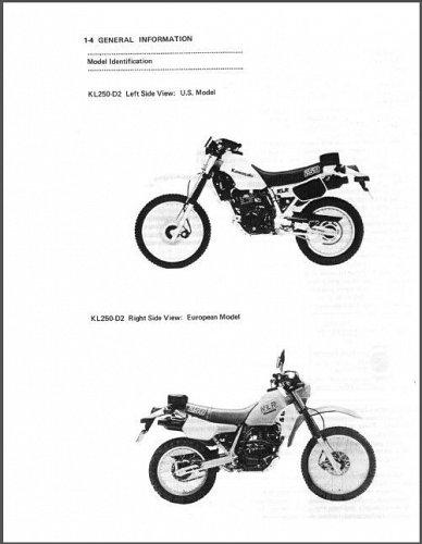 1985-2005 Kawasaki KLR250 / KLR600 Service Manual on a CD