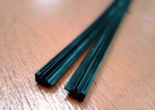 "2pcs. ฺBlack Rubber Quality Wiper Blade (Refill) long 23"" (6mm.)"