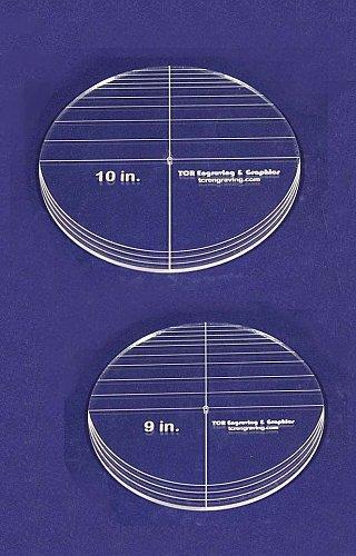 "2 Piece Circle Set - NO seam 9"", 10"" ~ 1/4"" Thick - Long Arm -Multi Use"