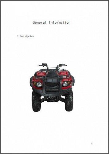 Hisun HS500ATV-2 ( HS500 ) 500 ATV Service / Maintenance Manual on a CD