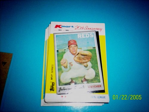 JOHNNY BENCH REDS 1982 TOPPS KMART 20TH ANNIVERSARY #18 OF 44