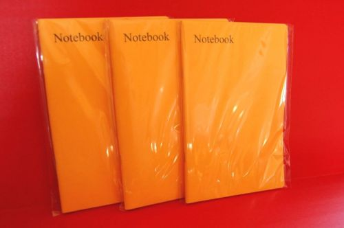"""3 x A5 SCHOOL EXERCISE BOOKS (80 lined pages) """"top quality books"""" YELLOW"""