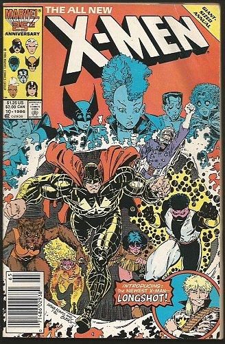 Uncanny X-MEN ANNUAL #10 Marvel Comics1987 1st print & series.LONGSHOT Art Adams