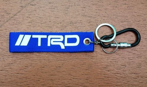 1 Embroidered Fabric Screen TRD Keychain Keyring Key Holder Tag Motorcycle 01