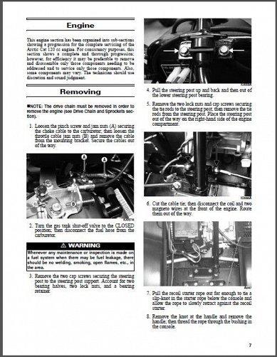 2016 Arctic Cat ZR 120 Snowmobile Service Repair Workshop Manual CD