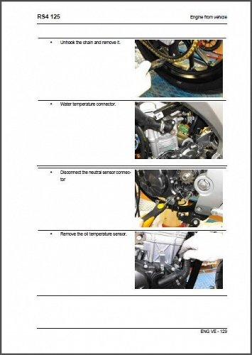 Aprilia RS4 125 Service Workshop & Parts Manual on a CD --- RS 4