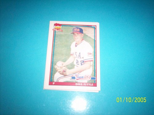 1991 Topps Traded card of rookie dave tuttle team usa #122T mint free ship
