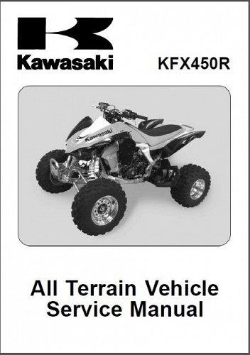 2008-2009 Kawasaki KFX450R ATV Service Manual on a CD