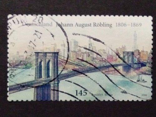 Germany used 1v Johann August Roebling Röbling engineer of Brooklyn Bridge Hudso