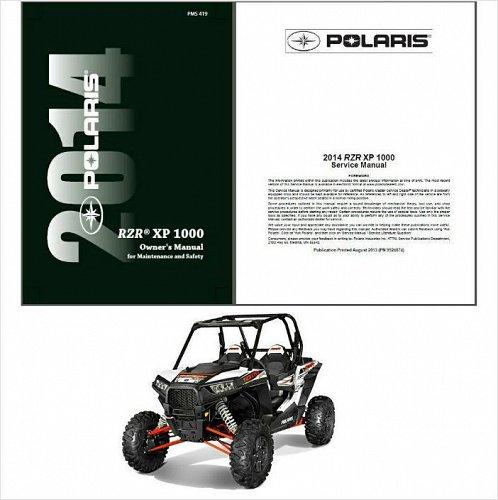 2014 Polaris Ranger RZR XP 1000 Service & Owner's / Maintanance Manual on a CD
