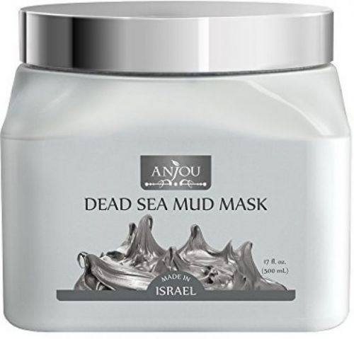 Anjou Dead Sea Mud Mask (17 Oz / 500ml, Made In Israel) For Facial And Body