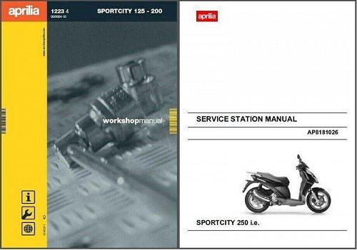 Aprilia Sportcity 125 200 250 i.e. Scooter Service Repair Workshop Manual CD