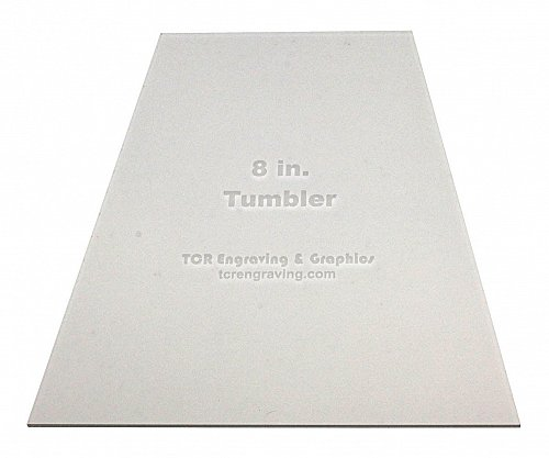 """Quilt Templates-Tumbler 8"""" - Actual Size - 1/8"""" Clear Acrylic -"""