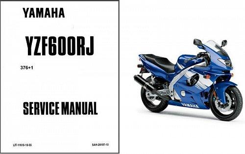 1996-2008 Yamaha YZF600R Thundercat Service Manual on a CD