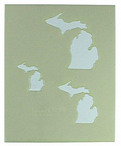 "State of Michigan Stencil 8"" x 10"" - 2"", 3"", 4""--14 mil Mylar Painting/Crafts"
