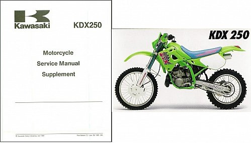 89-94 Kawasaki KDX200 KDX250 Service Repair Workshop Manual CD .. KDX 200 250