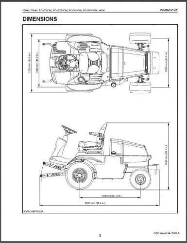 Kubota F2880 F3680 RCK72 RCK60 Ride On Mower WSM Service Manual on a CD