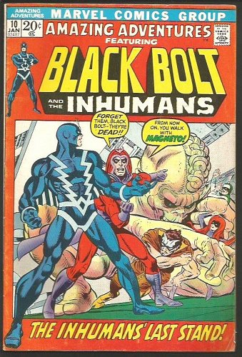 Amazing Adventures #10 BLACK BOLT & the INHUMANS new story Conway 1972, KIRBY re