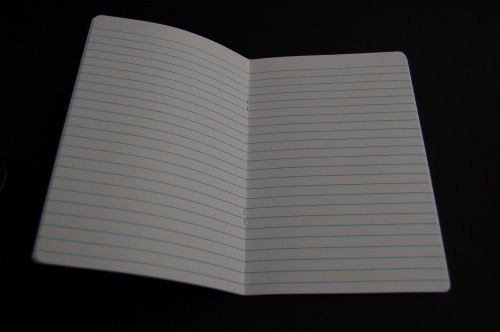 4 x A5 SCHOOL EXERCISE BOOKS (60 lined pages) GLOSSY WHITE PLAIN COVER